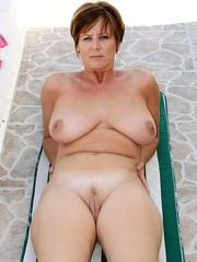 Titted old whore on vacation