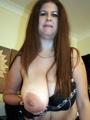 Incredibly real big boobs with large halo