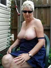 Wild matures and grannies flashing tits..