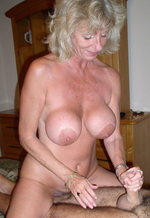 Granny give blowjob cum ob tits - 2 part 10