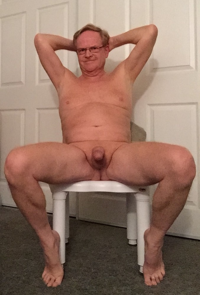 This older mature grandpa shows cock suit