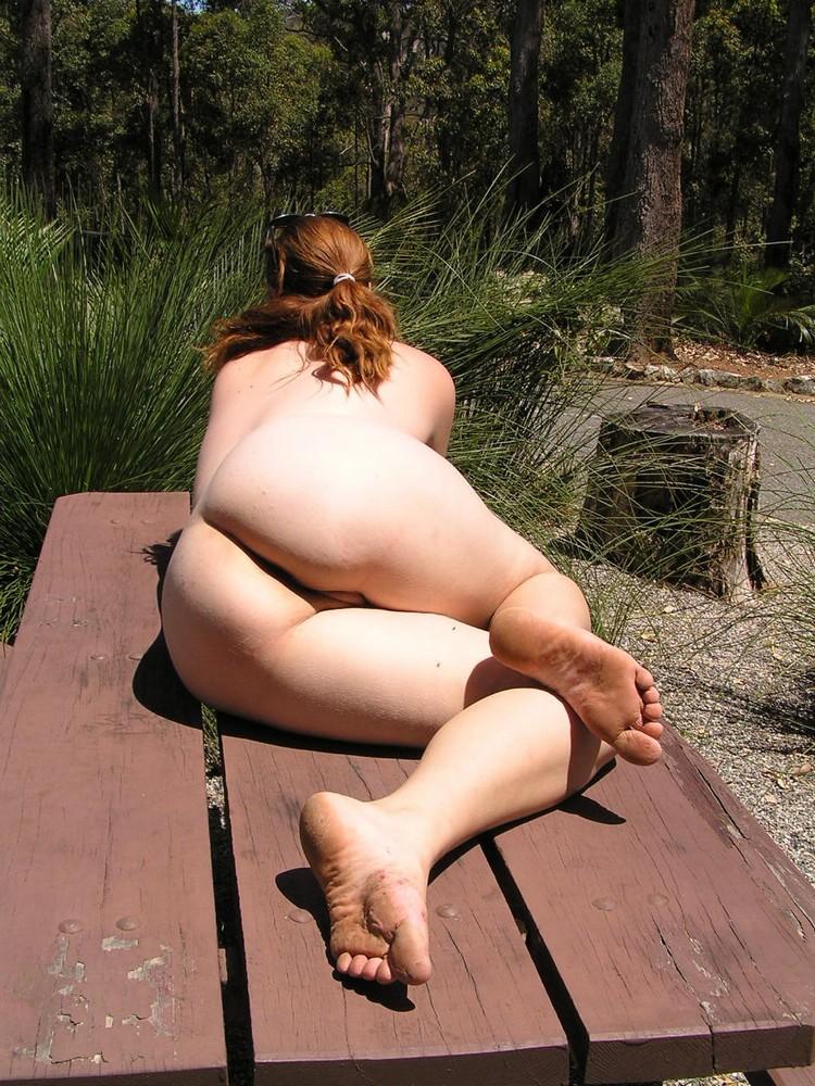 Amusing amateur mature nude garden