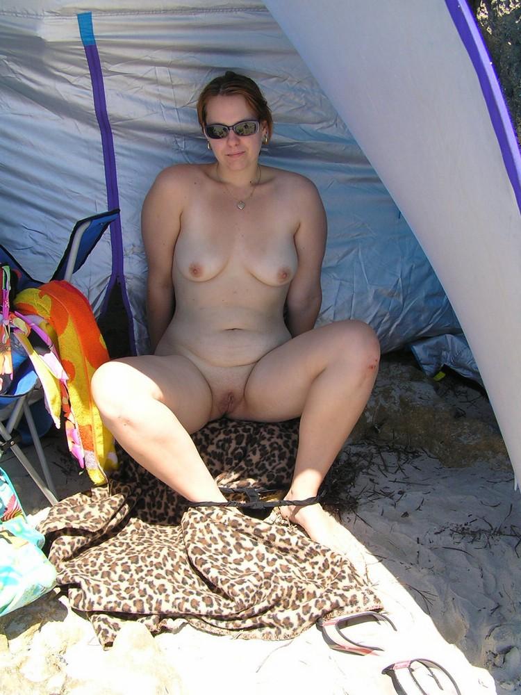Was Chubby hairy gf outdoors nude