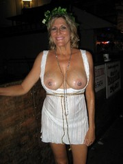 Naked moms sparkle tits in public places