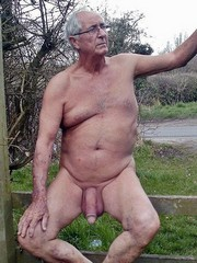 Naked Grandpa exposes huge dicks