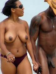 Beautiful and sexy African couple on a..