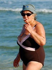 Real mature women in the SWIMSUIT on..