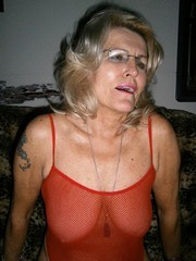 Blonde granny in the black stockings,..