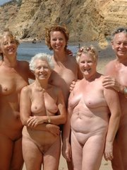 Some moms and grannies at the nudist..